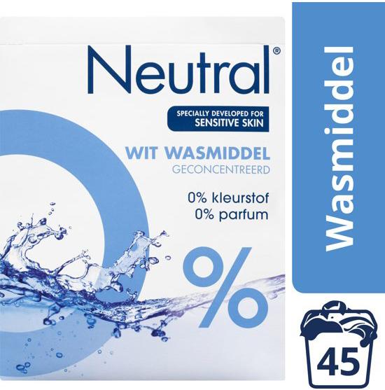 Neutral 0% Wit Parfumvrij Waspoeder wasmiddel witte was