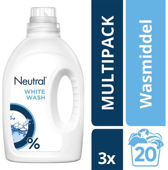 Neutral 0% Parfumvrije Wasmiddel Witte was