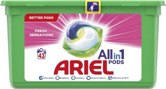 Ariel All in 1 Pods Fresh Sensations Wasmiddel - 43 Wasbeurten - Wasmiddelcapsules
