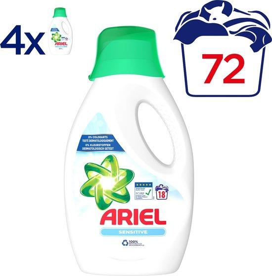 Ariel Sensitive - Megabox 4 x 18 Wasbeurten - Vloeibaar Wasmiddel