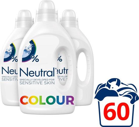 Neutral Kleur Parfumvrij Wasmiddel 3 x 20 wasbeurten