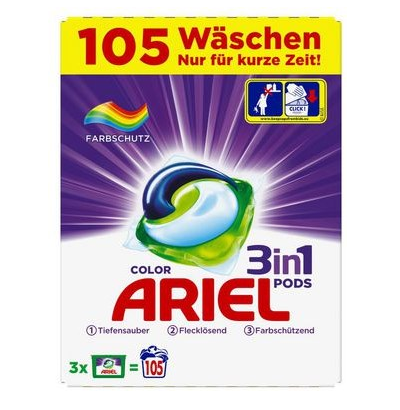 Ariel Wasmiddel 3 in 1 Pods Color - 105 pods