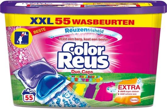 Color Reus Duo Caps Wascapsules - Wasmiddel Capsules - Voordeelverpakking - 55 wasbeurten