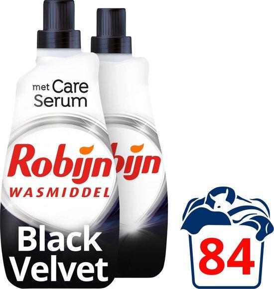 Robijn Klein & Krachtig Black Velvet Vloeibaar Wasmiddel - 2 x 42 wasbeurten - Voordeelverpakking