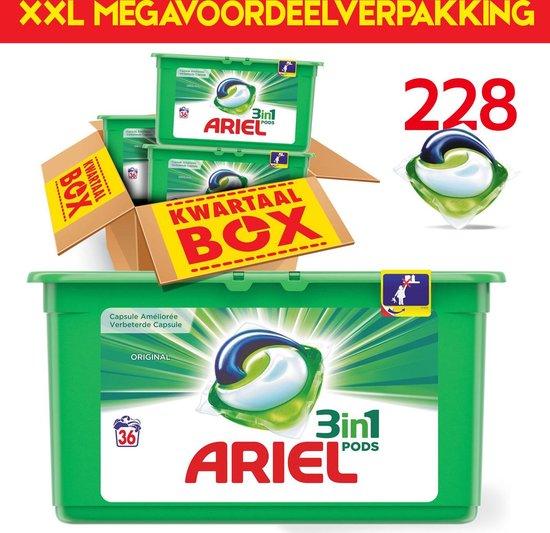 XXL 228 PODS Megavoordeelverpakking | Jaarpakket | Ariel Original Pods Capsules | 228 wasbeurten | Wasmiddel jaarpakket | Bekend van TV